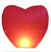 wholesale 6 pieces NEW RED HEART FIRE SKY CHINESE LANTERNS BIRTHDAY WEDDING PARTY(China)