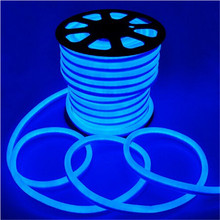 20m/roll 110V 220V LED Flex Neon Light 3-wires Four color With 80led/m Red/Blue/Green/RGB/White/Yellow/Orange Color(China)