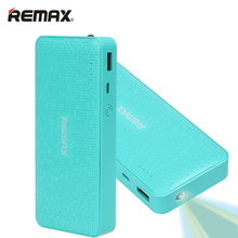 REMAX Power Bank 10000mAh High Quality External Cell Phones PC MP3 Battery Charger Backup Outdoor cargador portatil Powerbank(China)
