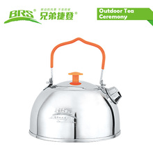 BRS-TS06/BRS-TS07 Stainless Steel Tea Pot Camping Kettle Outdoor Water Kettle New Arrival Camping Teapot Kettle Outdoor Cookware