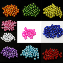 Wholesale New arrival 100pcs/lot 8*8mm Cube Faceted 10 Color Acrylic Loose Spacer Square Beads for Jewelry&DIY Craft Making