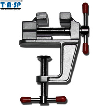 TASP Hand Tools Aluminium Table Vise with Clamp for Jewellers Hobbyists Crafts Model Building