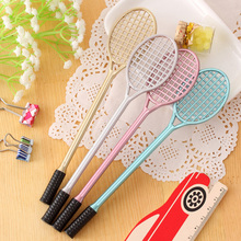 4 Pieces/Batch Latest Creative Badminton Racket Gel Pen Personalized Fashion Stationery School Office Supplies 0.38mm Black Pen