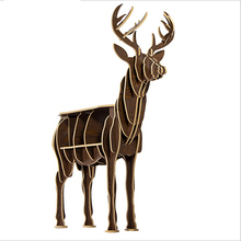 1 set 4 Color 51*55 Inch 9mm MDF Nordic Style Wooden Pere David's Deer Model Table For Home Decoration Art Wood Furniture