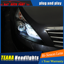 Auto Part Styling For Nissan TEANA headlights DRL 2008-2012 For Nissan TEANA LED light bar DRL Q5 bi xenon lens h7 xenon