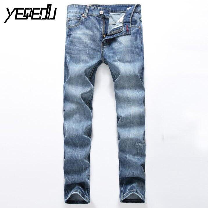 #3429 2017 Elastic Distressed jeans homme Fashion Denim Stretch jeans men Pantalon homme Slim Skinny Mens designer jeans BikerОдежда и ак�е��уары<br><br><br>Aliexpress