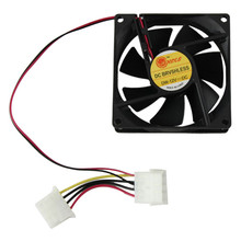 Hot sale 80mm Fan PC CPU cooler Fan 4Pin Computer Cooler 12V 8CM PC CPU cooler Quiet Cooler Fan for video card Drop shipping(China)