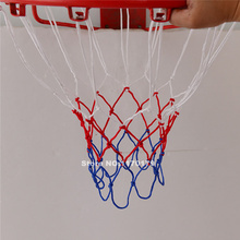 1 pair Standard Basketball Net Professional Nylon braided rope Hoop Goal Rim Mesh Net Red White Blue Wholesale