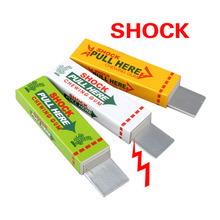 1pcs Safety Trick Joke Toy Electric Shock Shocking Chewing Gum Pull Head Hot April Fool's Day Xmas gift Free Shipping