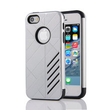 Luxury Case for Apple iPhone SE 5s silicone case PC & TPU Neo Hybrid Durable Slim Armor cover For Iphone 5S se case Phone cover(China)