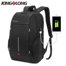 "KINGSLONG Brand New 15.6""Men's Laptop Backpack External USB Charge Computer Noctilucent Backpacks Antitheft Male Waterproof Bags(China)"