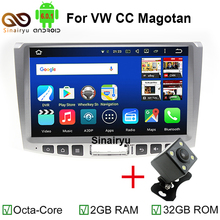 "2GB RAM 32GB ROM 4G LET 1024*600 10.1"" Octa Core Android 6.0 Car DVD Player For Volkswagen VW CC Passat B6 B7 Magotan 2011-2014"