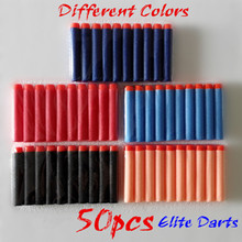 50pcs blaster Elite dart airsoft.gun pistol Clip Darts toy guns, Foam EVA Round Head soft arma bullets(China)