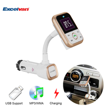 BT67 Bluetooth Car Kit FM Transmitter MP3 Player With Dual USB Car Charger Support AUX USB SD Card A2DP Function 4 Loop Modes(China)