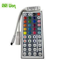 RiRi won 44keys IR remote light switch wireless touch controller DC 12V For RGB LED Strip Lighting 3528 5050 and lamps(China)