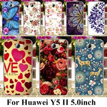 soft Case Cover for Huawei Y5 II Y6 ii MINI CUN-U29 Y5 2 Y5II Y5 2nd cases Rose  Peony Flowers Background Y6 ii Compact Covers