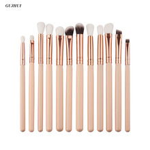 12Pcs Professional makeup brushes Rose gold Eyebrow Eyeshadow brush maquillage Powder Foundation make up brushe cosmetic Tools