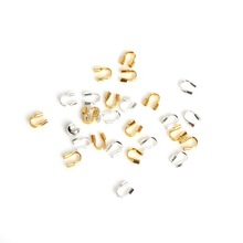 4x4mm 100pcs/lot Gold/Silver U Shape Wire Protectors Wire Guard Guardian Loops Jewelry Findings For Jewelry Making Necklace DIY(China)