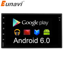 Eunavi Quad core 2 din Android 6.0 Car Radio GPS+Wifi+Bluetooth+video+Quad Core CPU+DDR3+Capacitive Touch Screen+3G+car pc+audio(China)