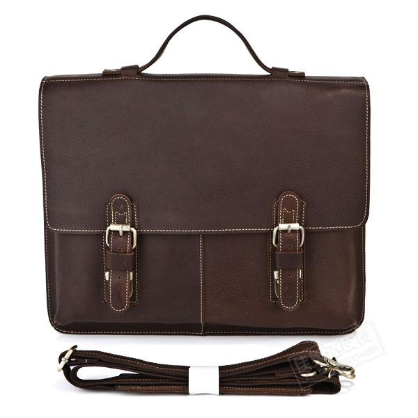 Genuine Leather Commercial casual Medium male briefcase Laptop one shoulder briefcase genuine leather bag laptop bag 7090r<br><br>Aliexpress