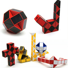7 Color 24 Parts Magic Ruler Avaliable Children Kids Twist Block Toys Magic Snake Shape Toys Cube Educational Building Blocks