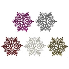 14cm multi Colors Christmas Party Home Decorations Snow Snowflakes Hanging Ornaments