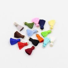 (50 pieces/pack) 2cm length Rayon tassel with ring for earring Bracelet Fitting Bags decoration accessories
