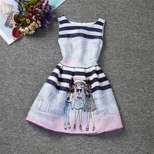 New Designs Kids Clothes Teenager Girl Printed Dresses Girl Wedding Birthday Party Princess Dress Vestidos Clothing For Kid Wear
