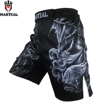 Martial: original design Pisces printed Cheap MMA fight SHORTS combat boxing shorts mma fighting mens shorts thai box trunks(China)
