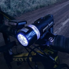 1pcs 5 LED Power Beam Black Front Light Head Light Torch Lamp for Bicycle Bike Power By 4*AAA Battery High Quality