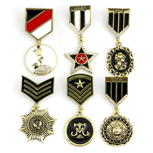 WEIMANJINGDIAN Brand Assorted Designs Enameled Medal of Freedom Badge Brooch Lapel Pins for Men