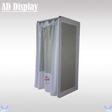 Exhibition Booth Display Tension Fabric Fitting Room With Double Side Advertising Banner Printing,Portable Changing Room