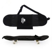 "New Black Skateboard Carrying Bag 4 Wheels Skateboard Bag 31""x8"" Skateboard Double Rocker Backpack"