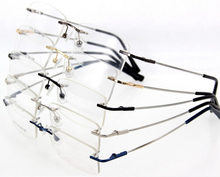 Memory Titanium Alloy Rimless Spectacles Flexible Eyeglass Frame Optical Hinged Glasses prescription lens RX 8125