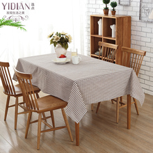 High Quality Table Cloth Literary Artistic Lattice Tablecloth Linen Rectangular Tablecloths Home Textile table cover(China)