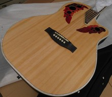 round back ovation electric acoustic guitar with free hardcase