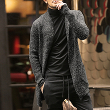 Mens Sweater Long Sleeve Cardigan Males Pull style cardigan Clothings Fashion Thick warm Mohair Sweaters Men england style hot(China)