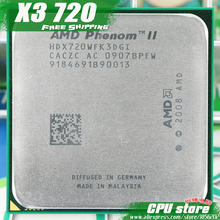 AMD Phenom II X3 720 CPU Processor Triple-Core (2.8Ghz/ 6M /95W / 2000GHz) Socket am3 am2+ free shipping 938 pin sell X3 710(China)