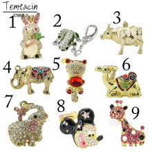 Cute Frog Camel Rabbit Cow Minnie USB Flash Drive 32GB Diamond Pen Drive 16GB 8GB 4GB PenDrive Memory Stic USB 2.0 Disk