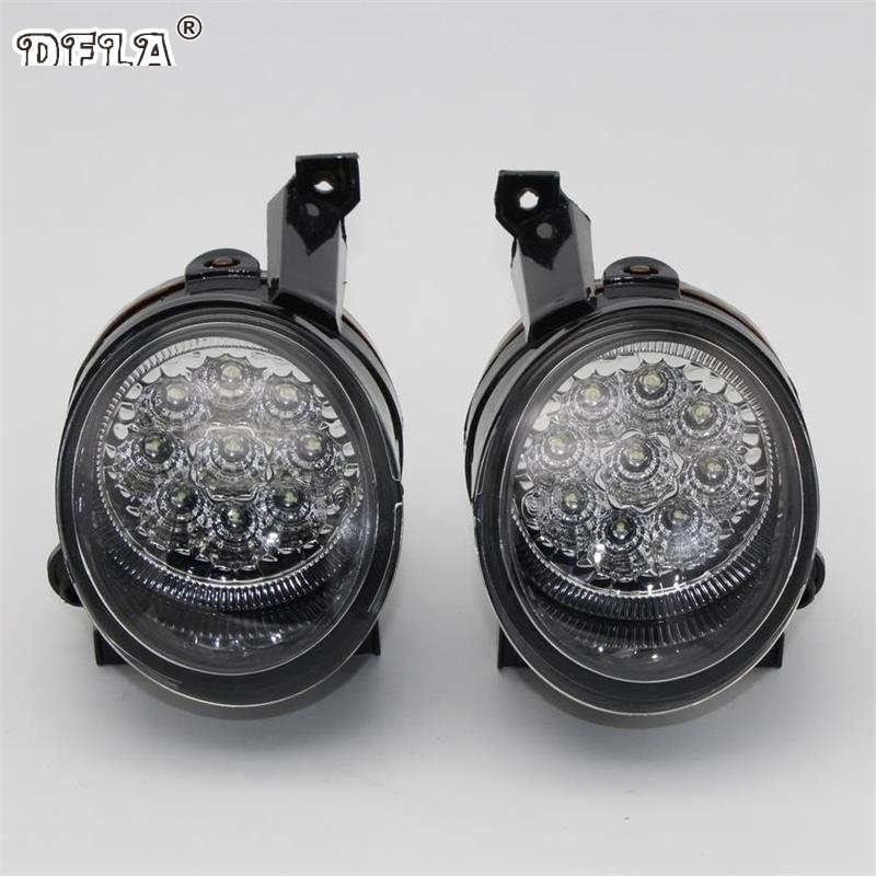 2 pcs LED Car Light For VW Caddy Touran 2004 2005 2006 2007 2008 New 9 LED DRL Daytime Running Light Fog Light Fog Light<br>