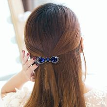 Fashion Women Crystal Rhinestone Flower Metals Hair Pin Barrette Butterfly Hairpin Clip