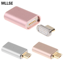 Magnetic Adapter Cable Metal Plug Micro USB Charging Cable Wire For Samsung XiaoMi HUAWEI LG Lenovo Asus HTC Moto Android Phone(China)