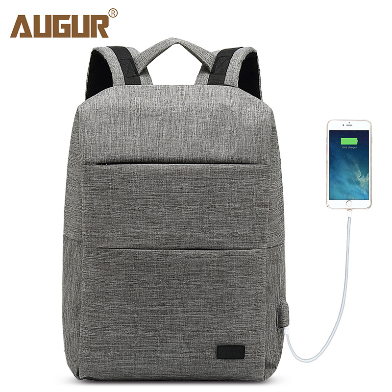 AUGUR 2018 New Backpacks USB Charging Men Women Casual Back pack Travel Teenager Student School Bags Laptop Rucksack Daypack <br>