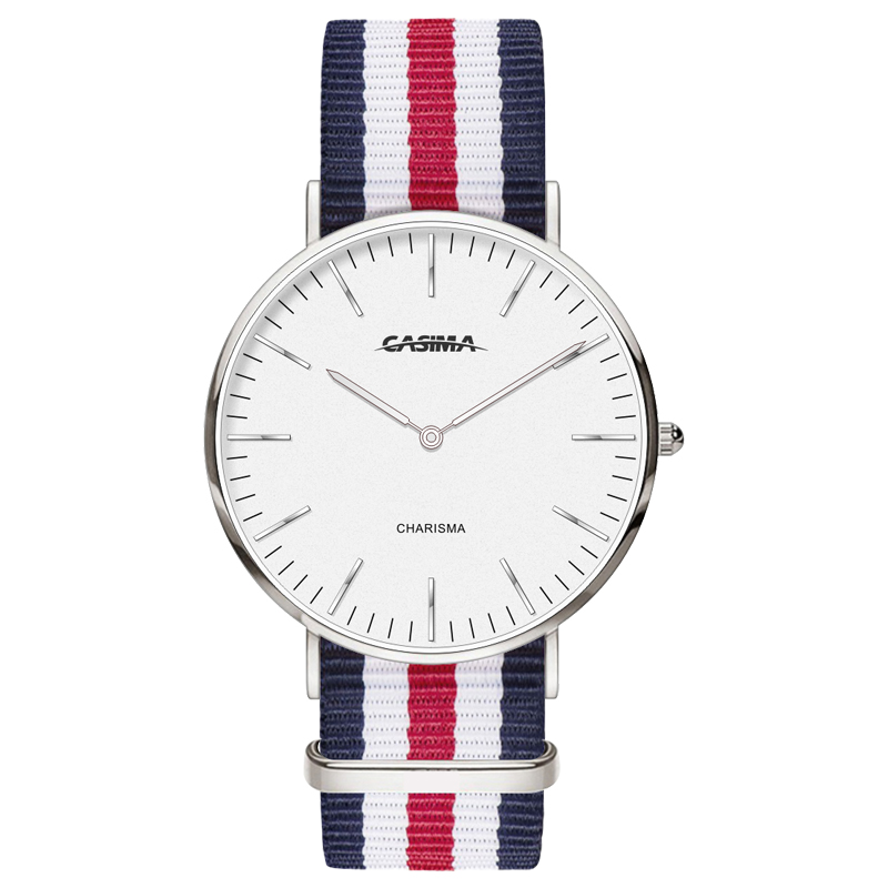 Brand Unisex Quartz Wristwatch Popular Elegant Simple Design Colorful Nylon Strap Watch Fashion Casual Style watch CASIMA 5134 <br>