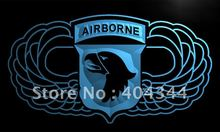 LI187- 101st Airborne Jump Wings Army   LED Neon Light Sign    home decor shop crafts