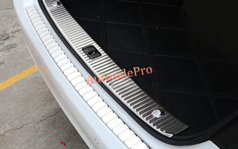 Steel Inner Rear Bumper Protector Sill Plate Threshold Guard Trim For Mercedes Benz E Class W212 4DR 2010 2011 2012 2013(China (Mainland))