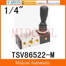 "TSV86522-M hand valve 1/4"" pneumatic directional valve two position five-way switch manual control valve mechanical(China)"