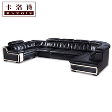 Whole sale big lots of sofa set in leather living room furniture corner lounge chair for home use(China)