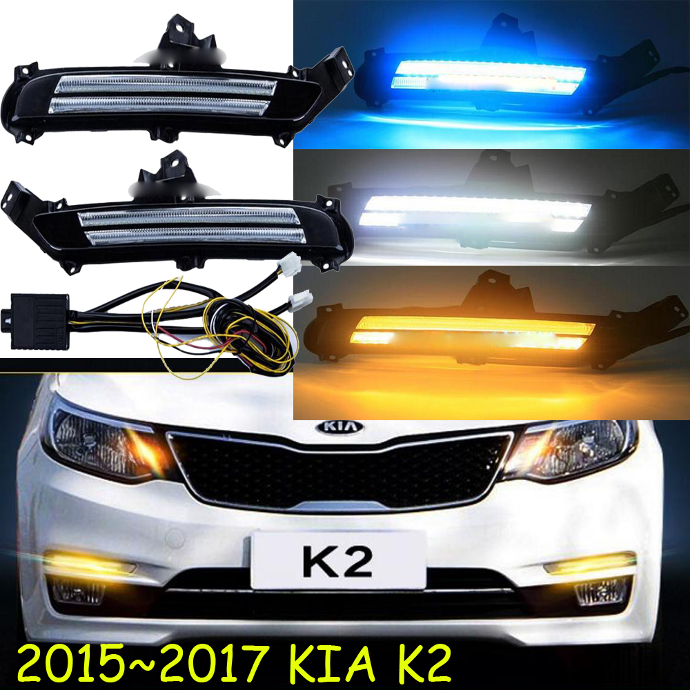 Car-styling,KlA K2 daytime light,Rio,2015~2018,chrome,k2 tail lamp,LED,Free ship!KlA K2 fog light,car-covers,K2 tail light,K 2<br>