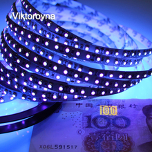 UV Light LED Strip UV Night Fishing Lights Ultraviolet 395-405nm LED Blacklight 5050 3528 SMD Waterproof Boat Strip Lamp(China)